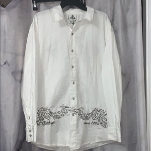 NWOT*Embroidered Casual shirt